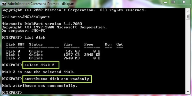 how to remove disk protection from usb flash drive